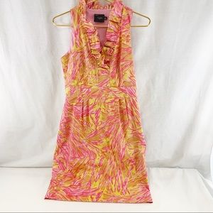 Just Taylor Ruffle Neckline Dress